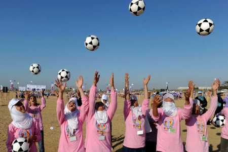 Gaza kids playing football