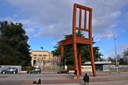 UN Broken Chair public domain